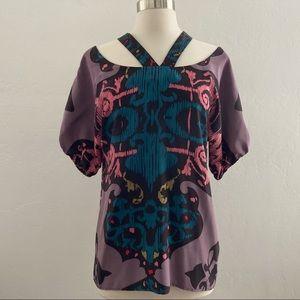 Corey Lynn Calter 100% Silk Blouse Purple Size 6